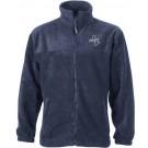 Full-Zip Fleece veredelt mit Logo Brogli in silber Stick