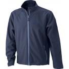 Men's Softshell Jacket veredelt mit Logo Brogli in blau Stick